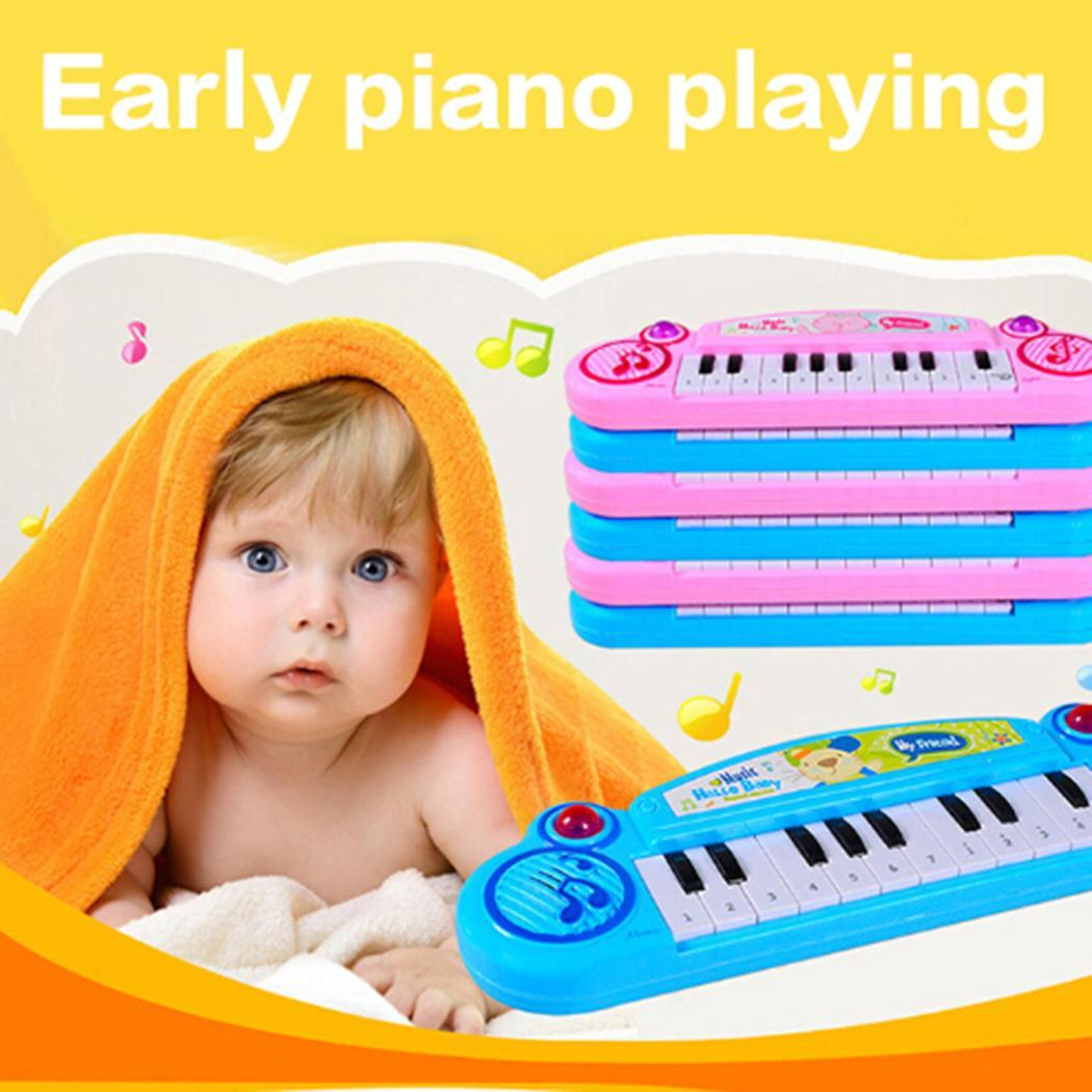 Baby Music Instruments Keyboard Early Piano Kids Casual Above 3 years old Pink, Blue Preschool Learning Toys