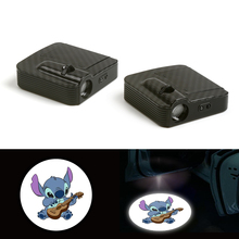 цена на Courtesy Cartoon Fit For Animal Car Logo Door Ghost Shadow Laser Projector Light LED 12V