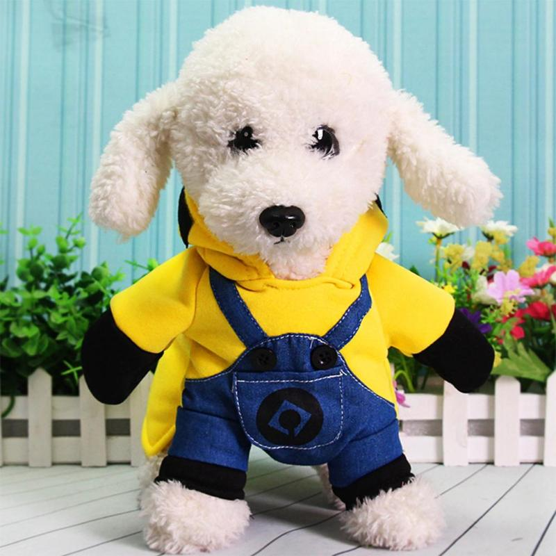 Shop For Cheap Small Dog Cat Clothes Minions Cartoon Cute Hoodie Pet Novelty Costume Puppy Clothes For Dogs Cats Winter Autunm Warm Coat Dog Clothing & Shoes