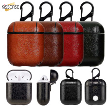 KISSCASE Wireless Bluetooth Earphone Bags Box Strap Leather With Buttons Headphone Case Accessories