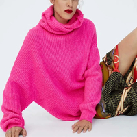 Casual Oversized Turtleneck Sweater Women Winter Tops Soft Neon Sweaters Turtle Neck Pullover Jumpers 2019 Pull Femme Hiver