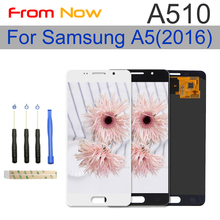 For Samsung Galaxy A5 2016 A510F A510M LCD Display With Touch Screen Digitizer Assembly 100% Tested Adjust Brightness
