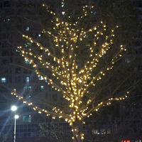 Ball String Lights Waterproof Outdoor Garland Lamp 220v Eu Plug 50m 400 Leds Christmas Tree Holiday Wedding Party Decoration