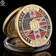 WWII 1944.6.6 D-Day Normandy War II 70th Anniversary Metal Challenge Coins Collection Hard Capsule