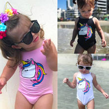 b937b88851b30 2018 7 Styles Baby Swimwear Cartoon Unicorn Swimsuit One Piece Swimsuit 0-3  Years Old Baby Girls Fit Bathing Suit Beachwear