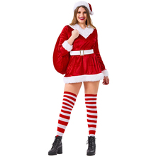 Santa Claus Costume Women Plus Size Christmas Adult Cosplay Clothing