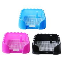 Pet Portable Toilet Tray Puppy Training Pad Holder With Fence Pee Post For Middle Small Sized Easy Clean Potty Product