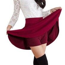 Danjeaner קוריאני גרסה חצאיות ממד קצר חצאיות נשים של מוצק מיני קפלים חצאית אופנה גבוהה מותניים מזדמן ללבוש