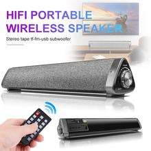 купить Soundbar 10W HIFI Portable Wireless Bluetooth Speaker Stereo TF FM USB Subwoofer for Computer TV Phone Soundbar lp1811 Speaker дешево