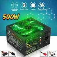 500W Netzteil 120mm LED Fan 24 Pin PCI SATA ATX 12V PC Computer Netzteil für desktop Gaming