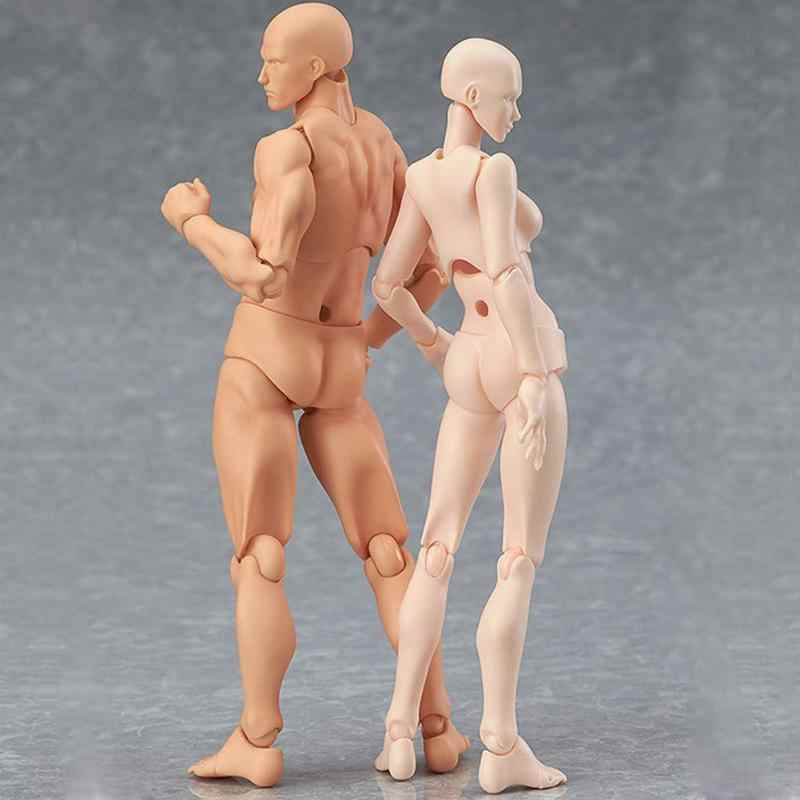 PVC Action Figure Human Movable Body Joints Dolls Male Female Nude Archetype PVC Models Collections Delicate Ornament