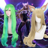League Of Legends Cosplay Kaisa Lol Lulu Costume Wig Accessories Cosplay Props Halloween Ahri The Nine Tailed Fox Akali Evelynn