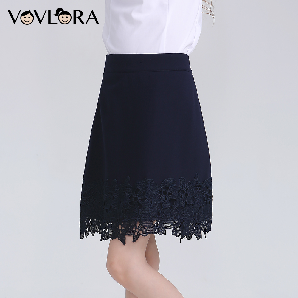 Lace School Girls Skirts Blue Kids Skirt 2018 Autumn Casual Children School Uniform New Arrival Size 9 10 11 12 13 14 Years school tops white girls blouse 2018 woven lace long sleeve teenagers blouse fashion school uniform size 9 10 11 12 13 14 years