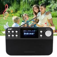 Portable Mini Digital Radio Receiver FM Radio With LCD Digital Clock Snooze Alarm Clock Function Outdoor Music Player