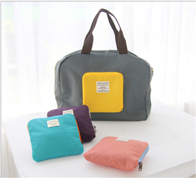 Cosmetic-Bags Zipper Tote Travel-Storage Fashion Patchwork Shoulder-Bag Folding Large