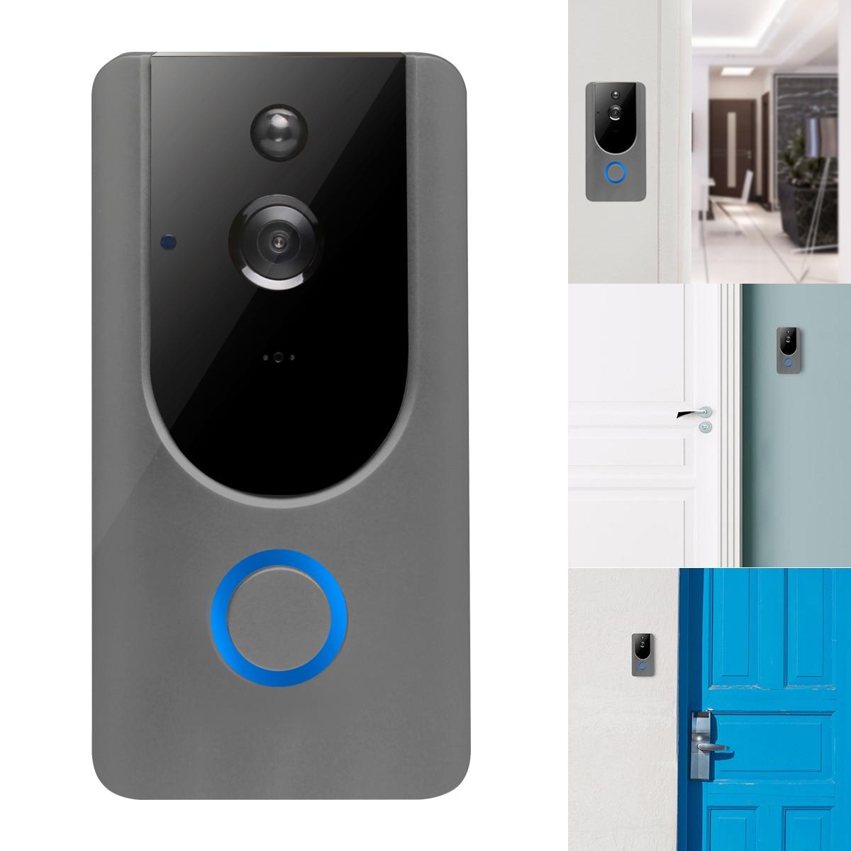 New Wireless Doorbell Waterproof Remote Door Bell Visual Recording Remote Home Monitor Night Vision Video Intercom