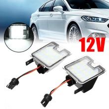 цена на 1 Pair Canbus Car LED Puddle Mirror Light Under Side Mirror Light Lamp For Ford Mondeo MK4 IV 2007-2014