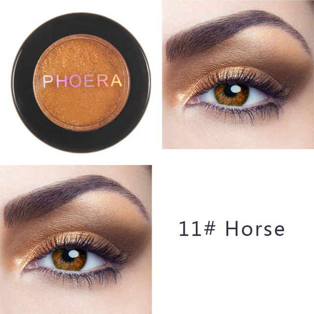 PHOERA Metal Eyeshadow Makeup Palette Red Black Color Glitter Eye Shadow Natural Eyes Make Up maquillage TSLM2 2