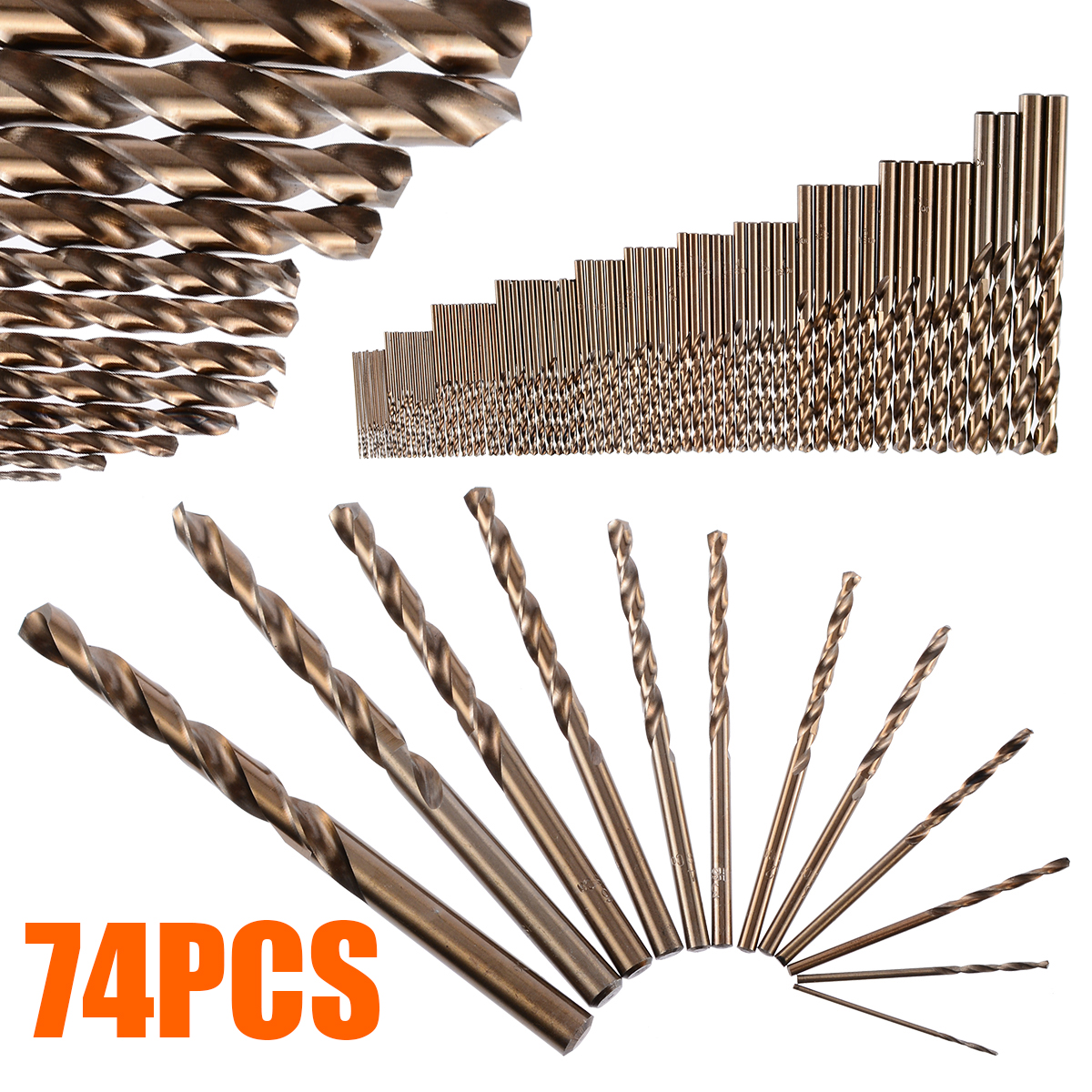 74pcs/Set 1-8mm HSS Twist Drill Bits Cobalt Drill Bit Whole Ground Metal Reamer High Strength Drilling Tool for Steel Iron74pcs/Set 1-8mm HSS Twist Drill Bits Cobalt Drill Bit Whole Ground Metal Reamer High Strength Drilling Tool for Steel Iron