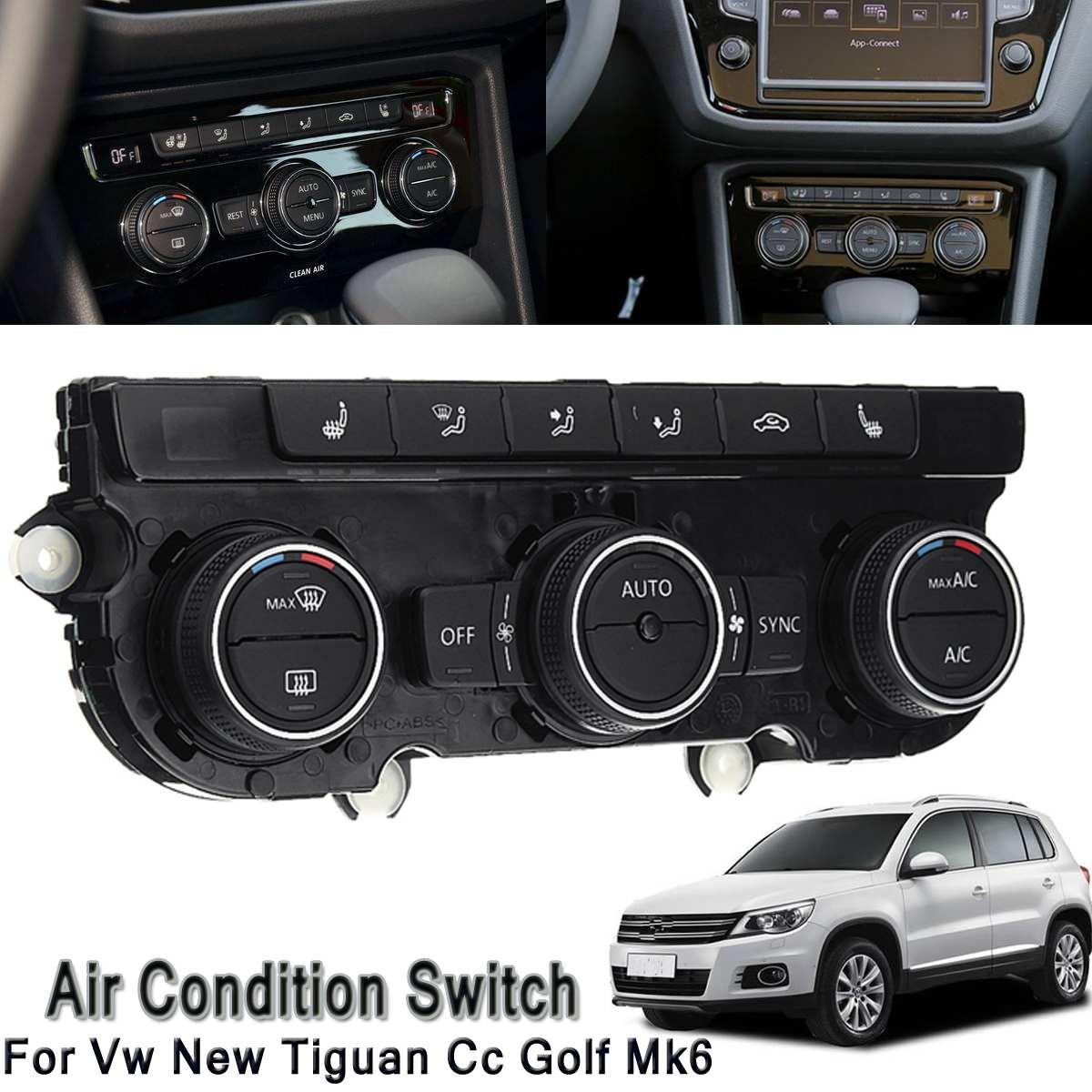 Interruptor no Painel De Controle de Ar Condicionado Climatronic AC Assento De Aquecimento do carro para Volkswagen/VW Tiguan Novo Cc Golf MK6 5ND 907 044 UM