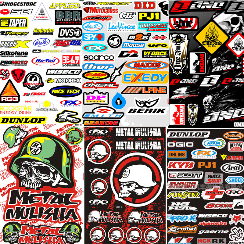 DIY Fashion Skull Motocross Racing Helmet Motorcycle Decal Car Truck Graphic Bike Vinyl Sticker SCOOTER Skateboard(China)