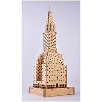 76pcs High precision Laser Cutting Puzzle 3D Wooden Jigsaw Model Building Kits Building