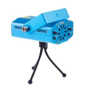 Image 2 - Mini proyector láser LED R & G portátil, iluminación de escenario, ajuste de efecto, DJ, discoteca, karaoke, fiesta, boda, enchufe europeo