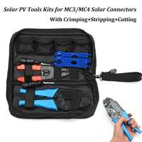6pc/set Solar PV Kit Tools For MC3/MC4 Solar Panel Multitool Crimping Tools 26 10AWG 2.5 6mm2 Wire Crimper Wire Connector Cut