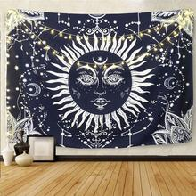 Wall Tapestry 3D Sun Moon Star Hanging Home Tapestry Wall Blanket for Decoration