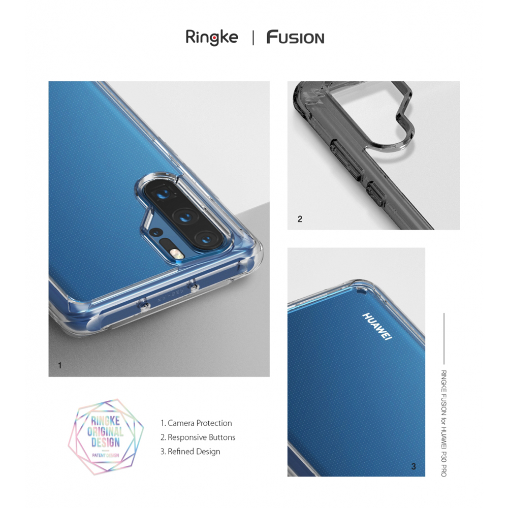 Ringke Fusion Case For Huawei P30 Pro  Flexible Tpu and Clear Hard Back Cover Hybrid  Case