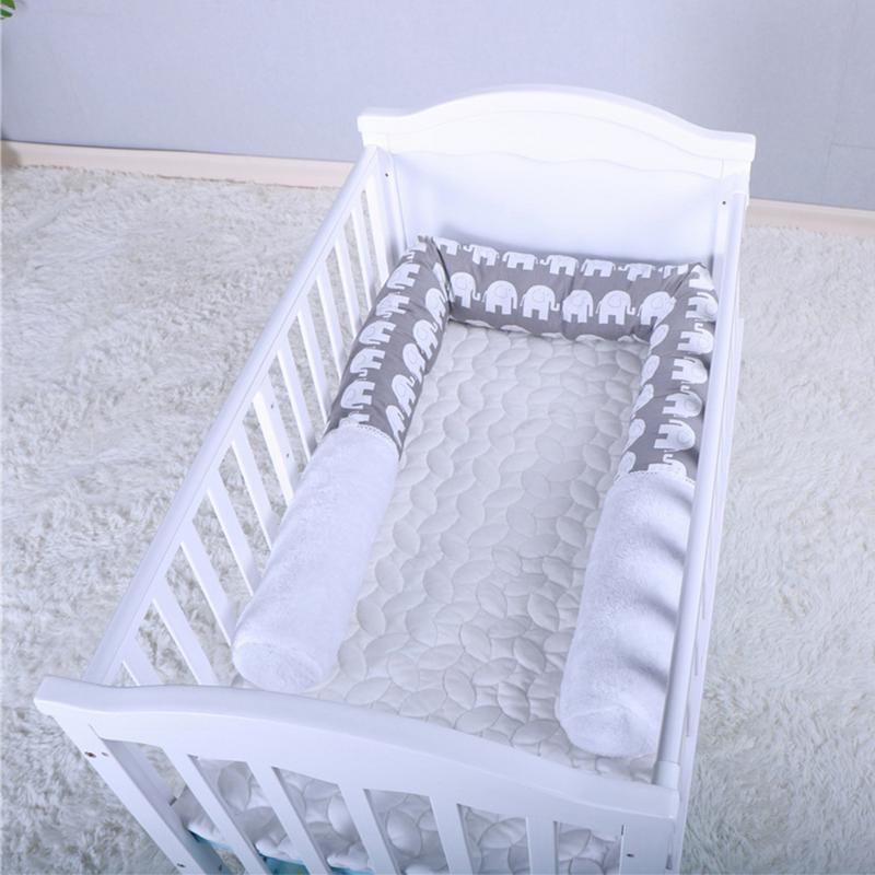 Childrens Room Printing Crib Pillow Safety Crash Barrier Long Pillow Baby Napping Pillow Anti-Collision PP Cotton Padding for Baby Games
