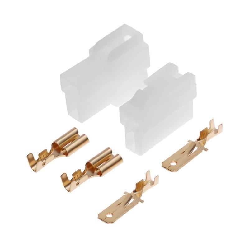 ALLOYSEED T-Type 2 Pin DC Power Connector Plug Male Female Wiring Adapter Kit For VHF/UHF Kenwood Yaesu Icom Radio Walkie Talkie