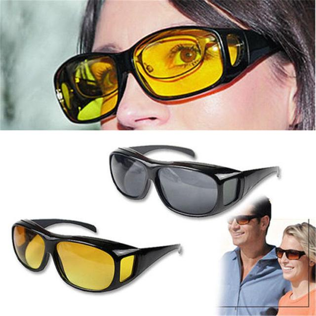 HD yellow lens sunglasses Anti UV  night vision goggles car driver glasses UV protection  Fashion