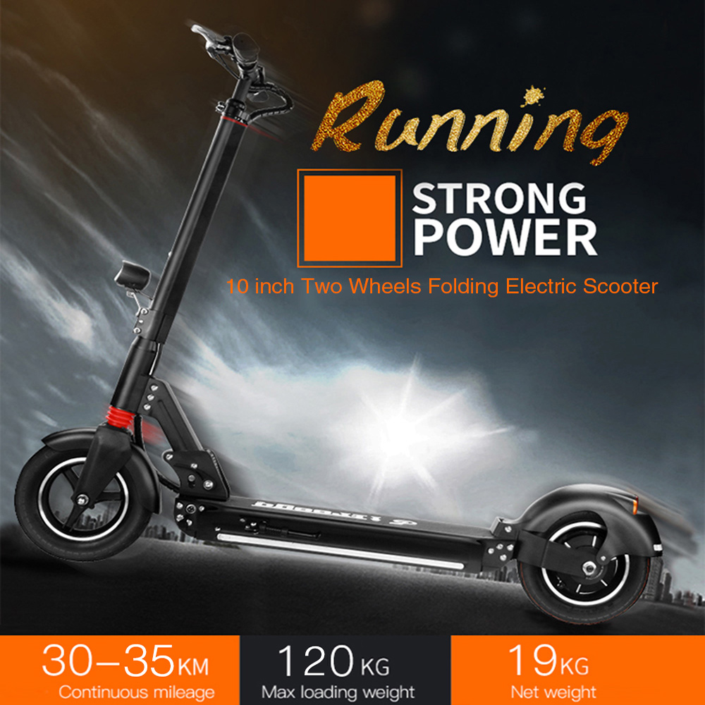 NO TAX Folding Electric Scooter 10Inch Two Wheels Electric Scooter 2.6Ah Battery LongBoard Skateboard Kick Scooter Free Shipping 2 wheels kick scooter 350w lithium battery electric scooter with seat max load 150kg for adults free shipping