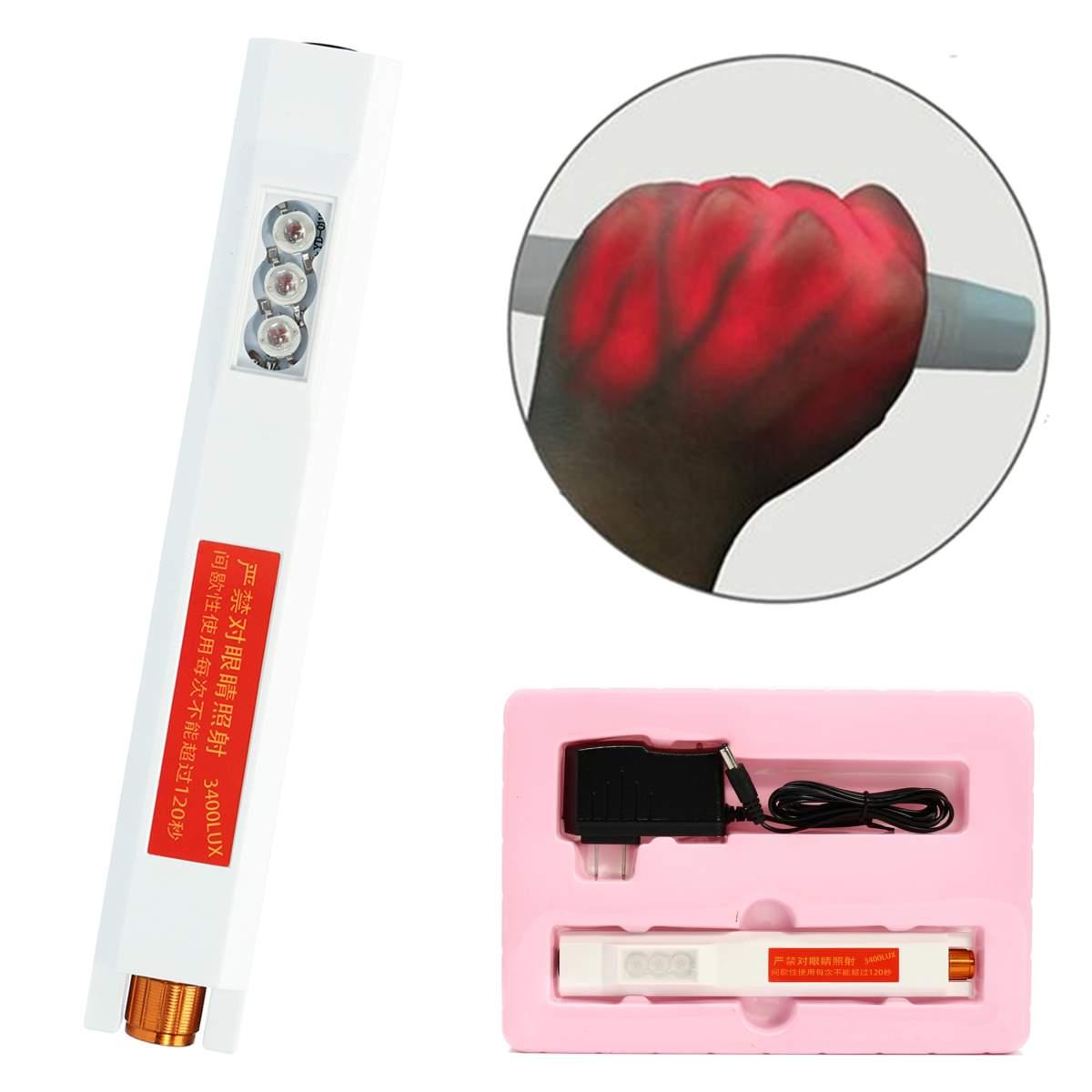 190x24x35mm Infrared Vein Viewer Finder Transilluminator Find Veins For Phlebotomy IV 20W Measurement Analysis Instrument Tool