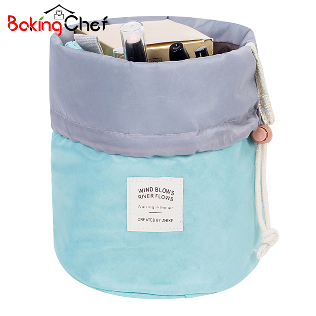 BAKINGCHEF Women's Toiletry Cosmetic Storage Bag Organizer Beauty Makeup Wash Cases Casual Travel Camping Weekend Accessories