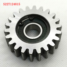Steel 22 teeth 48mm electrical motor bicycle wheel spur gear set 12mm bore electronic bike tricycle replacement iron metal gears