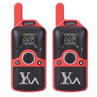Carter Cool 2Pcs Dh U8 Mini Walkie Talkie Kids Children Radio 1.5W 400 480Mhz Free Frequency 99 Channel
