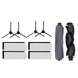 1 пара основной щетки + 4 Hepa фильтр + 4 боковые щетки для Chuwi Ilife A6 A8 X620 X623 робот пылесос Запчасти Ilife A8 Accessori