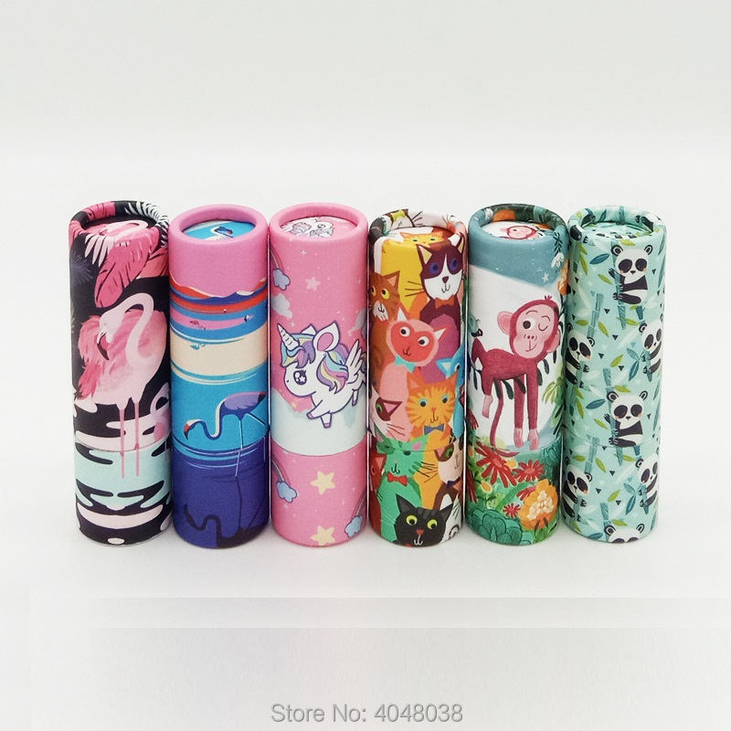 12 1mm Empty Kraft Paper Lipstick Tube Round Lip Balm Containers Papery Refillable Bottle Lip Balm