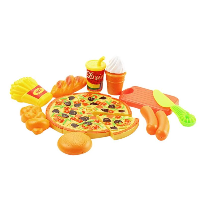 18pcsset Girls Doolhouse Pretend Play Toy Kid Pretend Play Kitchen Tool Set Children Vegetable Fruit Playing Toy Christmas Gift