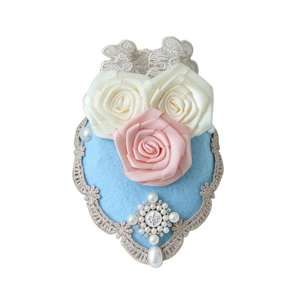 1 Stück Kleine Top Hut Haarnadeln Rose Spitze Perle Palace Headwear Mini Hut Fedoras