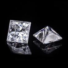 3*3mm Princess Cut White Moissanite Stone 0.16 carat moissanite