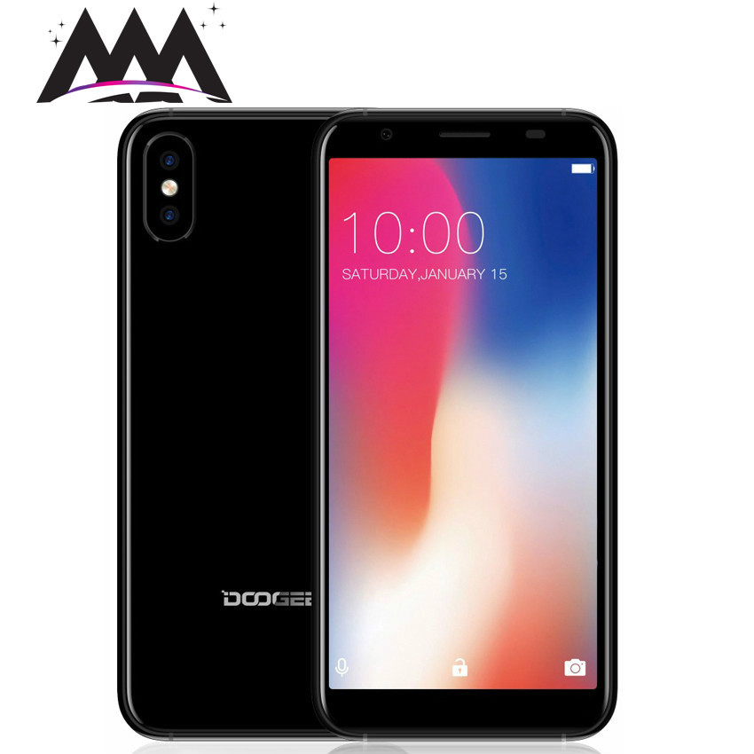 DOOGEE X55 5.5 HD 18:9 Display Smartphone MT6580 Quad Core 1GB RAM 16GB ROM Android 7.1 Dual Cameras Fingerprint Mobile Phone