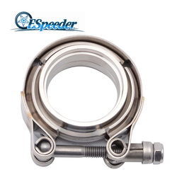 Espeeder Mobil 2 Inch V-Band Clamp Stainless Steel Band Flange Kit untuk Pipa Knalpot Downpipe Exhaust bagian Sistem