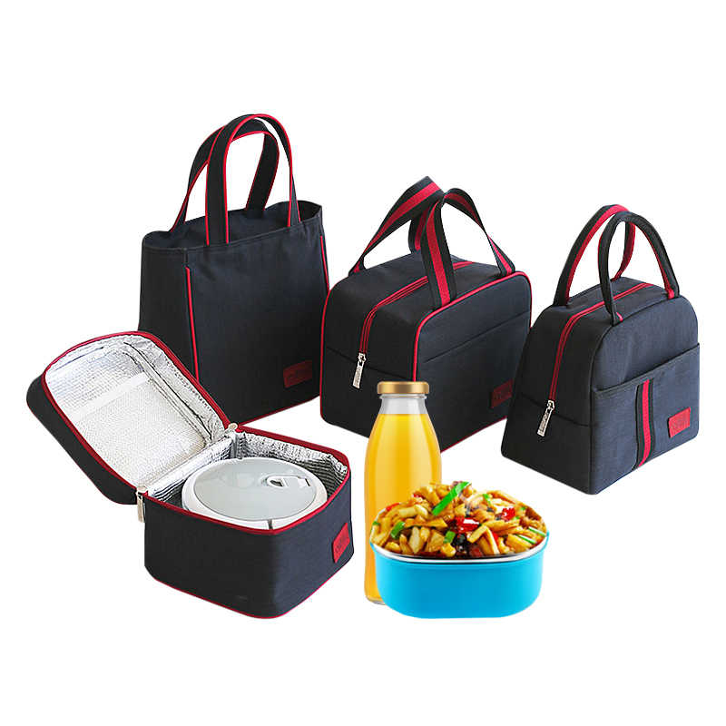 Thermal Insulated Lunch Bag Family Travel Picnic Drink Fruit Food Fresh Cooler Tote Women Cooler Bento Pouch Organizer Accessory