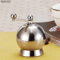 WSHYUFEI 304 Stainless Steel Pepper Grinder Kitchen Manual Pepper Mills Seasoning Grinding Bottle Mill