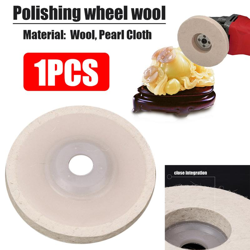 1pcs 4 Inch Wool Felt Polishing Abrasive Wheel Angle Grinder Disc Rotary Power Tool Accessories