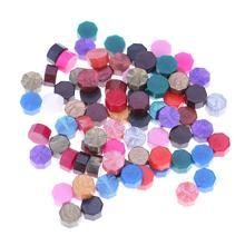 100 шт./лот, винтажные Восьмиугольные восковые бусины для таблеток, сделай сам, свадебные штамповки для конверты для украшения, восковые латунные ложки