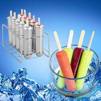 NEW Household 304 Stainless Steel Popsicle Mold Set of 6/10 DIY Fruit Innovative Ice Tube Mold #CO